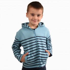 Sweat enfant mixte zippé à capuche ÉVAN