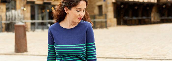 Marinière femme & tee-shirt rayé