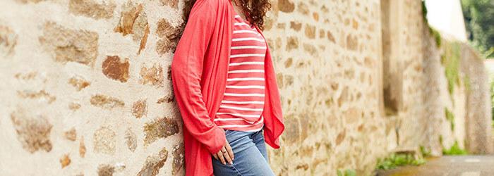 Women's striped t-shirts & tank tops