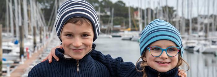 Bonnet marin  & chouchou rayé