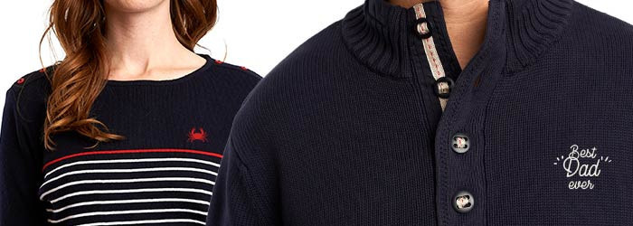 Customizable embroidery sweater and sailor jumpers