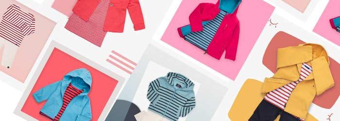 The little striped looks! Children's marine clothing