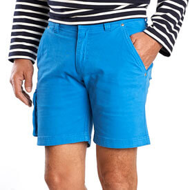 Canvas Bermuda shorts man