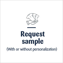 Request sample button