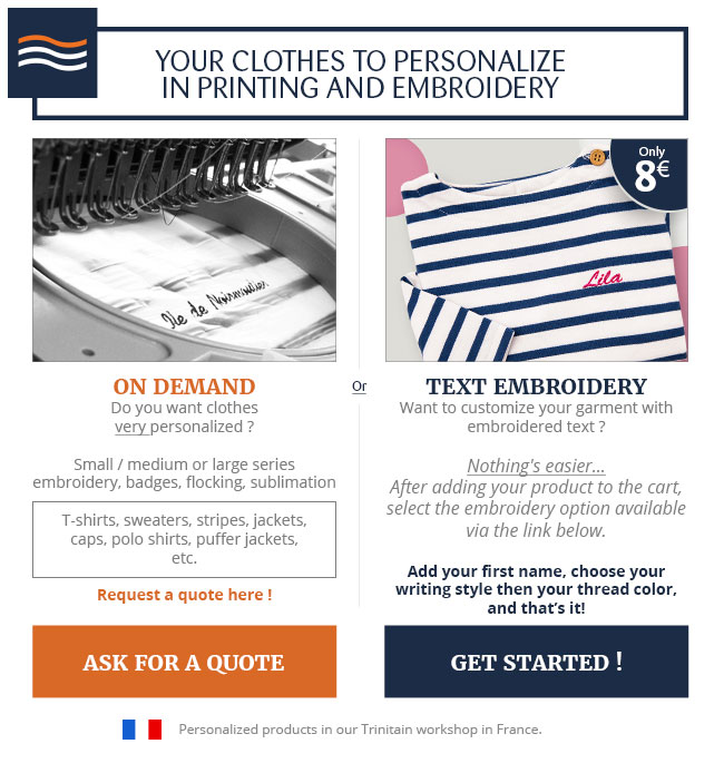 Vêtements à personnaliser All'Océan
